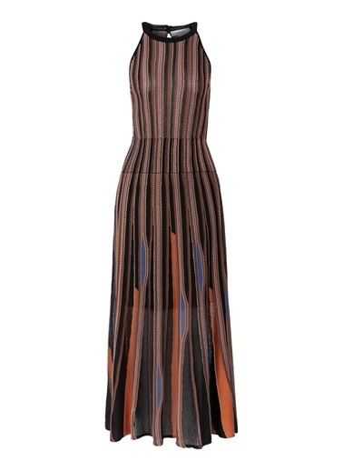 Ipekyol Otantik Uzun Örme Elbise Siyah